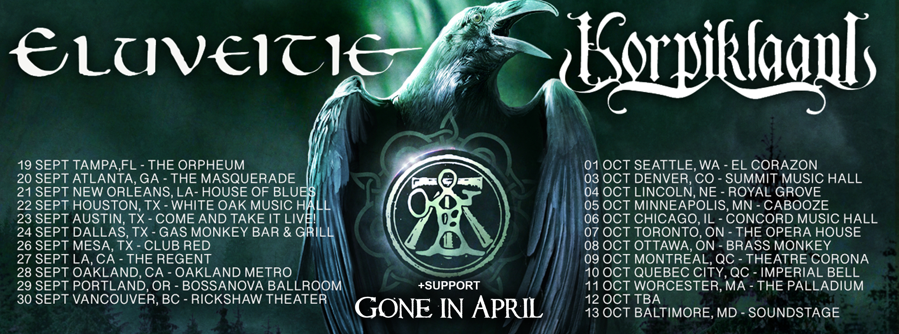 Gone in April North American tour 2019